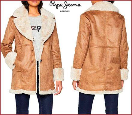 Oferta abrigo Pepe Jeans doble faz Iliana barato, chollos ropa de marca barata
