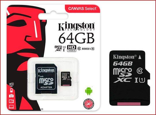 Oferta tarjeta MicroSD Kingston Canvas Select barata