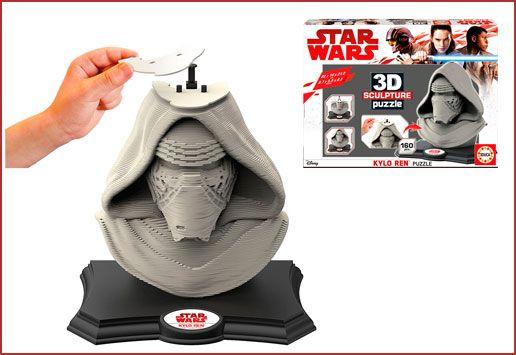 Oferta Star Wars 3D Sculpture Puzzle Kylo Ren barato