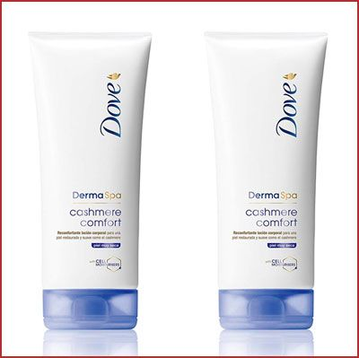 Oferta pack de 2 Dove Derma Spa Cashmere Comfort loción corporal barata