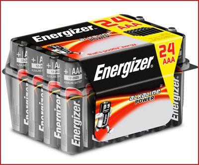 Oferta pack 24 pilas alcalinas Energizer E92 AAA baratas