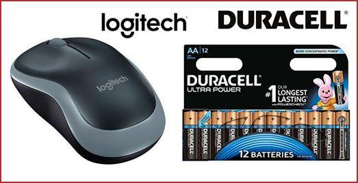 Oferta ratón Logitech M185 más pilas Duracell barato