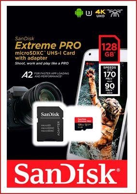 Oferta tarjeta de memoria SanDisk Extreme PRO microSDXC 128gb barata
