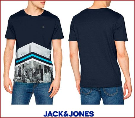 Oferta camiseta Jack & Jones Jcooval barata, chollos ropa de marca barata