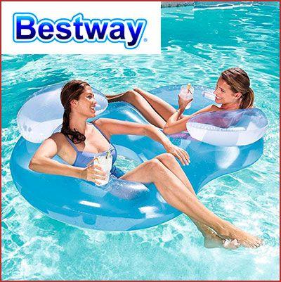 Oferta flotador sillón doble Bestway