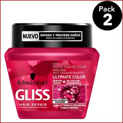 Oferta pack de 2 Gliss Mascarilla Ultimate Color