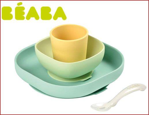 Oferta vajilla de silicona BEABA barata