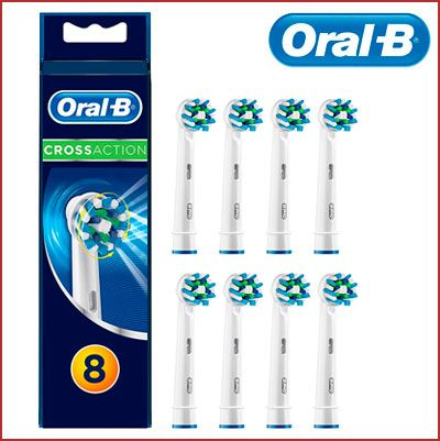 Oferta pack de 8 recambios Oral-B Cross Action baratos