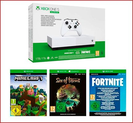 Oferta consola Xbox One S 1 TB All Didital con 3 juegos