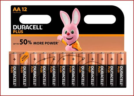 Oferta pack de 12 pilas alcalinas Duracell Plus AA