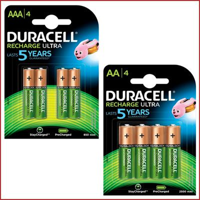 Oferta pilas Duracell Recharge Ultra