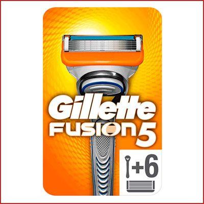 Oferta pack de maquinilla con 6 recambios Gillette Fusion