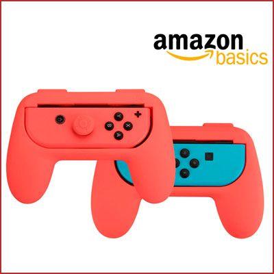 Oferta empuñaduras para mandos Joy-Con Amazon Basics