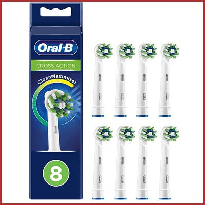 Oferta pack 8 recambios Oral-B Cross Action CleanMaximiser baratos amazon