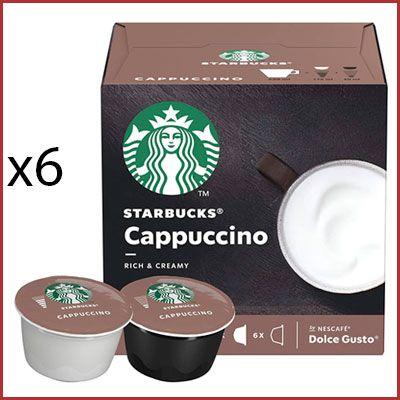 Oferta 6 cajas Starbucks Capuccino para Dolce Gusto baratas