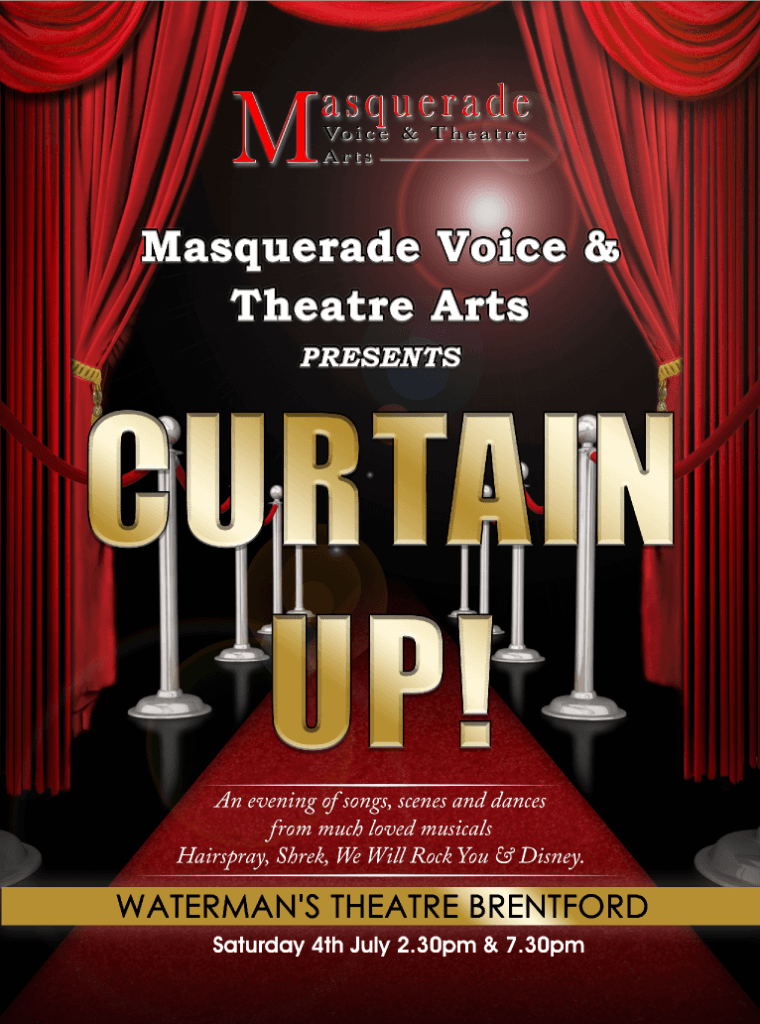 Curtain Up Masquerade Production
