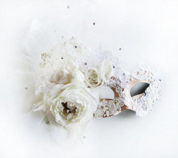 Crystal Venetian Mask - Brides