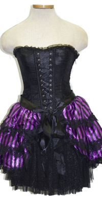 Dark Fairy - Striped Bustle Overhead