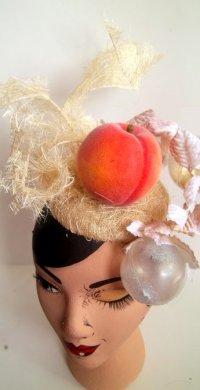 Sarah\'s Peach Headpiece