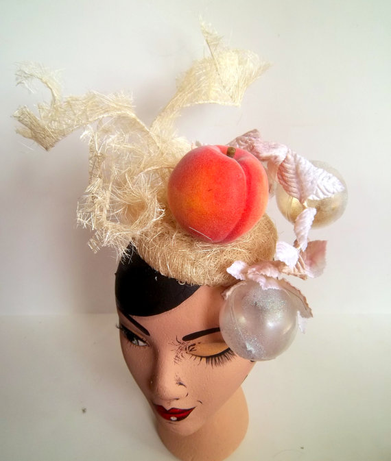 Sarah\'s Peach Headpiece
