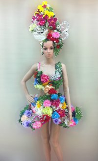 "alt=""daNeeNa Flower Dress"""
