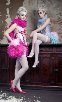 "alt=""pink lady moulin rouge corsets"""