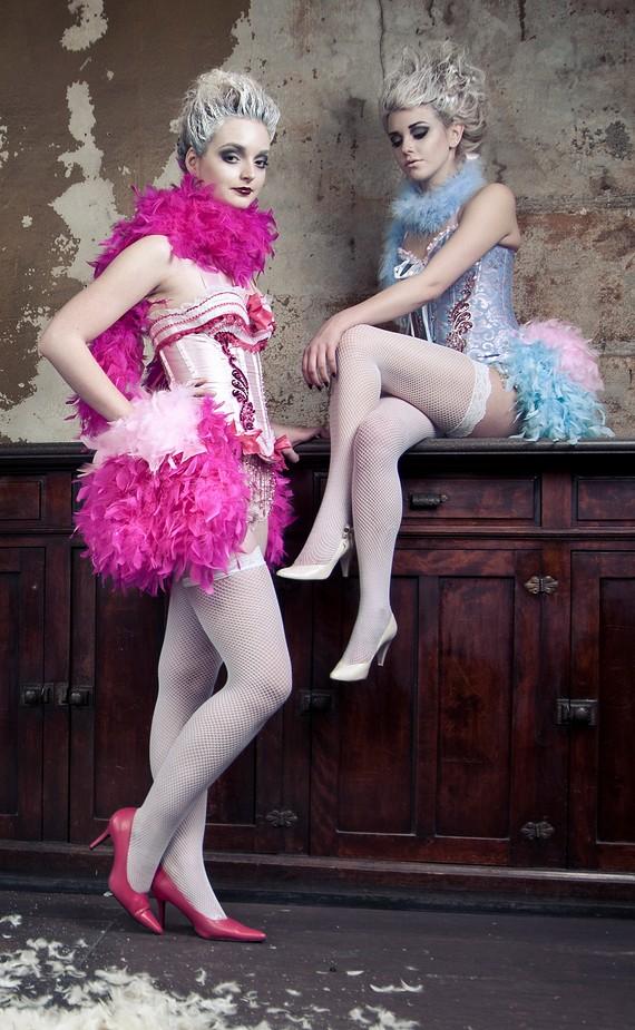 "alt=""pink lady moulin rouge corsets"""
