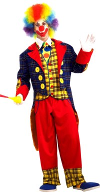 "ALT=""clown checkers costume"""