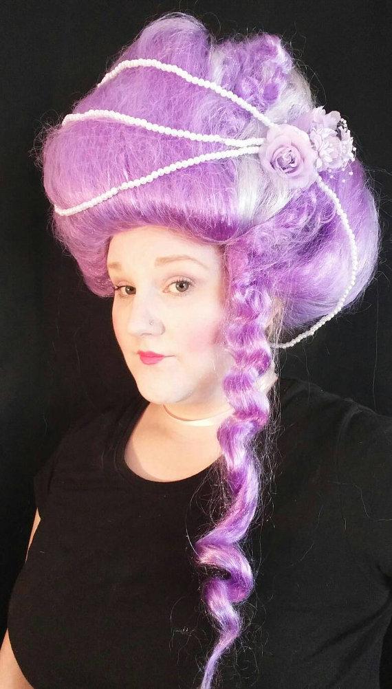 "alt=""marie antoinette lavender wig"""