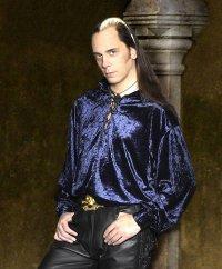"""alt=""""velvet pirate costume shirt for men"""""""