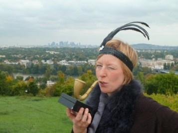 """Cécile alias Katy Jack, tenancière d'une boite de jazz Sherlock d'or octobre 2013 """"Merci encore pour ce super week-end, continuez on a hâte de recommencer! """""""