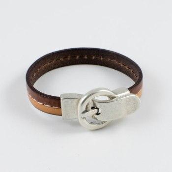 Pulsera de cuero y cierre cinturón