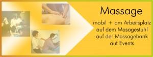 Massage macht fit und vital: auf dem Massage-Stuhl - auf der Massage-Bank