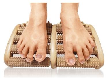 TheraFlow Dual Foot Massager Roller (Large) - Relieve Plantar Fasciitis, Heel Foot Pain, Stress - Wooden Acupressure & Reflexology Tool