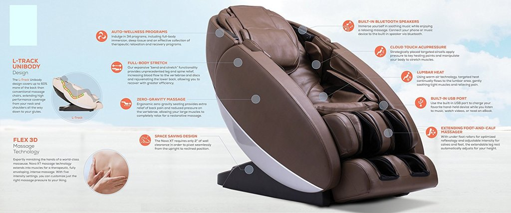 Novo XT Ultra High Performance Zero-Gravity Massage Chair features