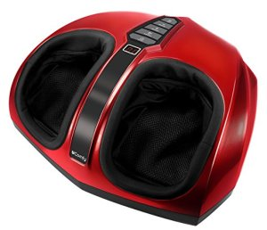 Ucomfy 9441 Shiatsu Foot Massager with Heat, Red