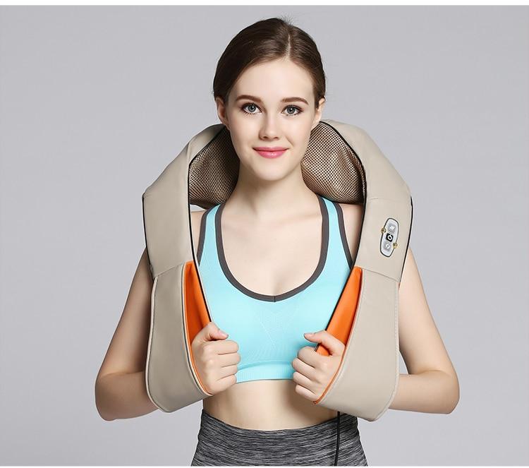 Новый профессиональный массажер для шеи и спины с прогревом