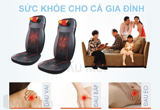Đệm massage hồng ngoại Shoohan rất tốt cho cơ thể