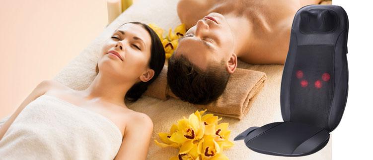 Đệm massage toàn thân Đệm massage hồng ngoại Neck & Back