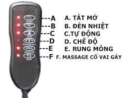 Đệm massage Shachu điều khiển dễ dàng