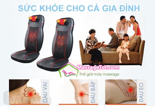Gối massage sử dụng cho cả gia đình