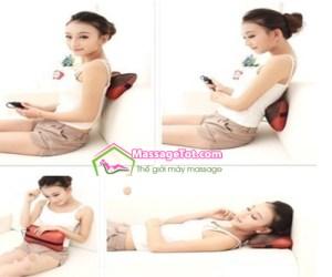 Sử dụng gối massage cho nhiều vị trí trên cơ thể