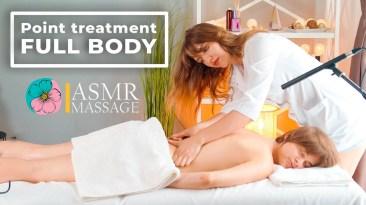 ASMR Point treatment Massage FULL BODY (back neck foot feet) by Olga