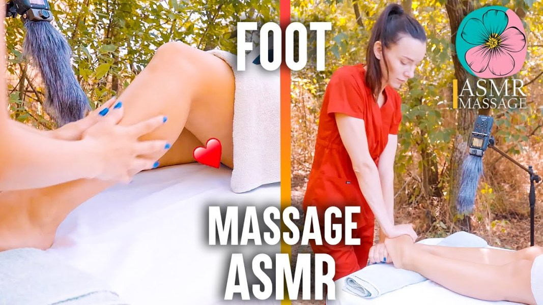 ASMR Foot Massage in the forest by Adel