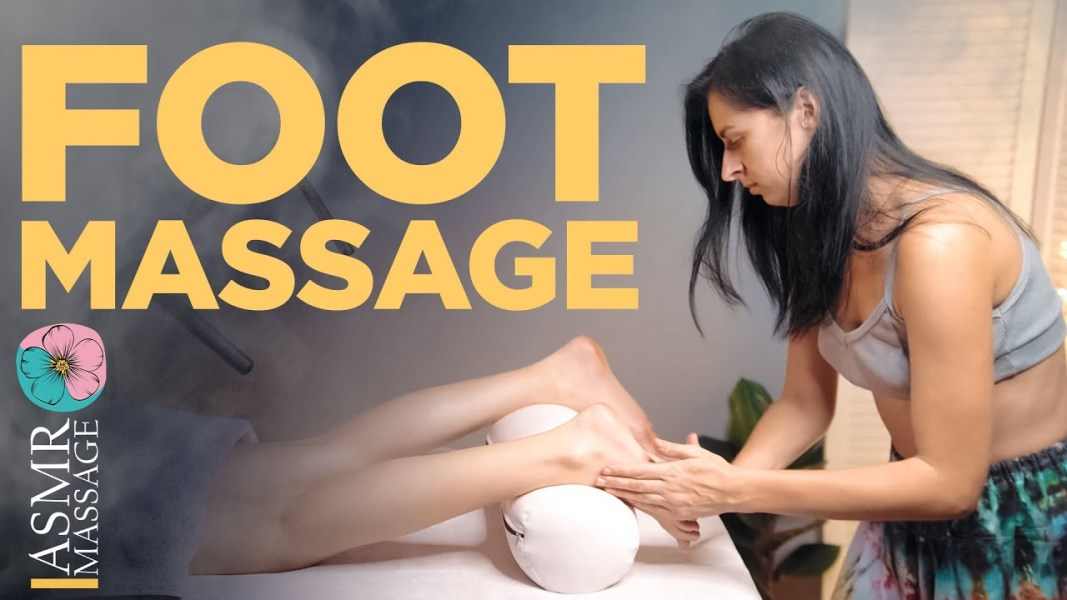 ASMR foot relaxing spa massage by Anna