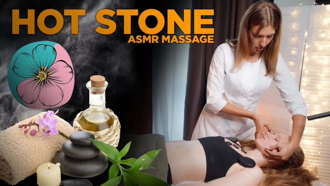 Hot Stones ASMR Massage by Olga (front, stomach, abdominal)