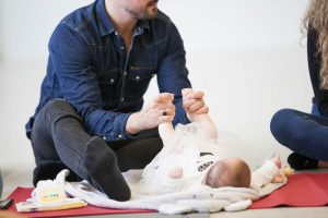 Baby massage for dads