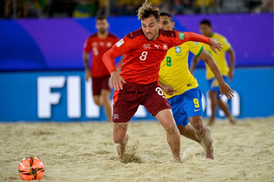 futebol de areia brasil x suíça