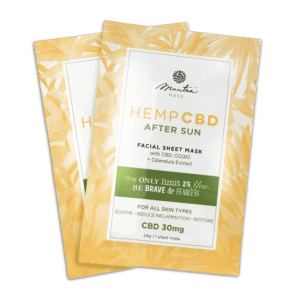 After Sun CBD Facial Sheet Mask 30mg | Mantra Mask