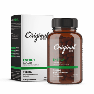 Energy CBD Capsules 750mg | Original Hemp